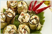 Aubergine rolls with FITAKI